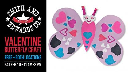 paper butterfly valentine craft for kids public hosted by smith and edwards